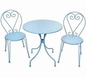 Salon De Jardin Romantique : salon de jardin romantique bleu pastel 2 places 95 ~ Dailycaller-alerts.com Idées de Décoration