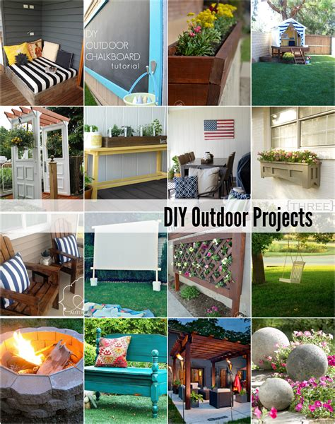 diy outside projects 20 diy outdoor projects the idea room