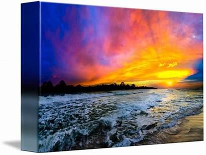 Sunset Colorful Purple Ocean Eszra Tanner Houzz
