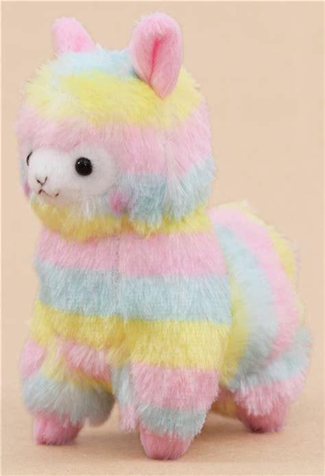 cute multicolor alpaca plush toy  japan modesu