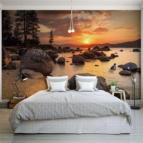 Custom Photo Wallpaper Murals 3d Sunset Beach Scenery