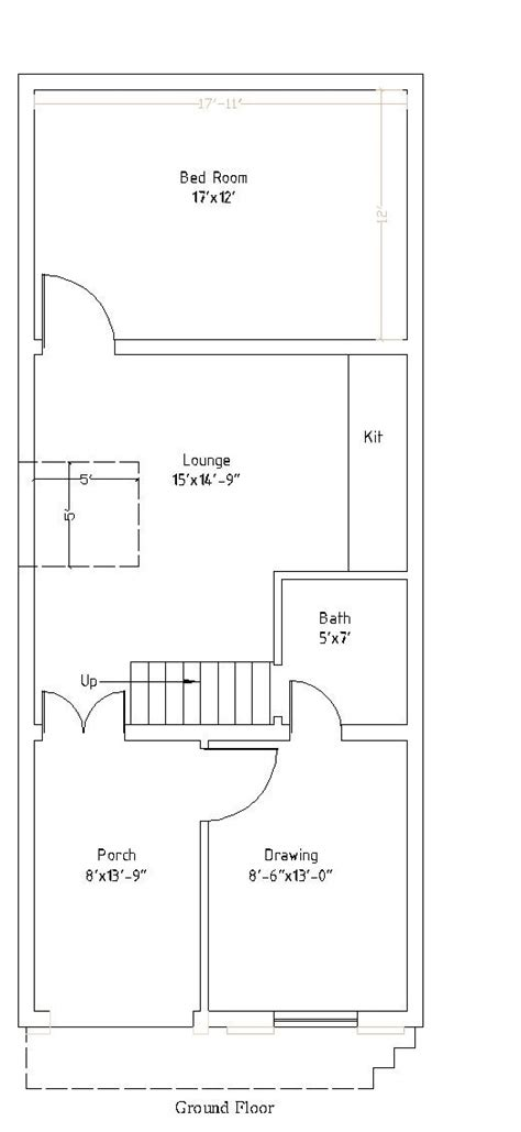 45 Ft Bathroom by 12 215 45 50 Square Meter House Plan