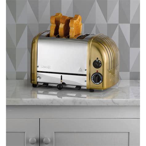 dualit classic vario 4 slot toaster brass free uk
