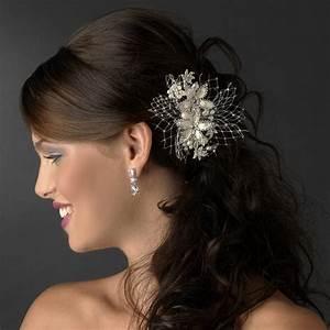 Ivory Rum Pink Pearl Floral Hair Comb Elegant Bridal