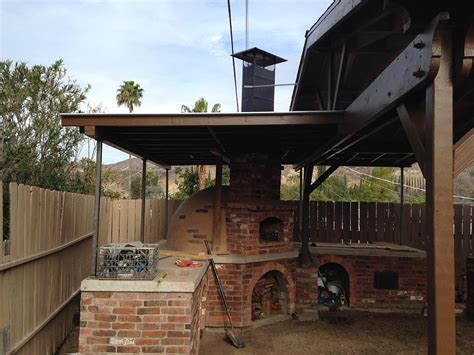 Build Brick Bbq Smoker Fire Pit Design Idea Barbecue Outdoor Fire Pit Chimney Hood