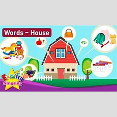 "Kids Vocabulary Theme ""house""  Fruits&vegetables, Clothes  English Words Theme Collection"