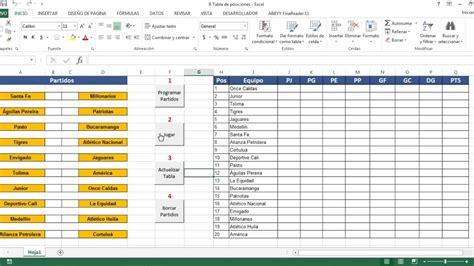 Tablas de posiciones, resultados, fixtures, programación y todo tipo de estadísticas de las mas. Macro para actualizar tabla de posiciones de torneo de futbol - YouTube