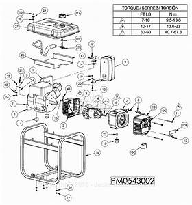 Powermate Formerly Coleman Pm0543002 Parts Diagram For Generator Parts