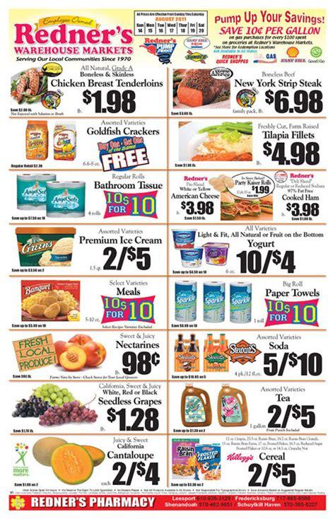 Redners Sinking Weekly Ad by Redner S Weekly Circular Grocery Store