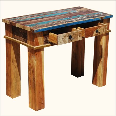 top console tables rustic wood console tables image of wood console entry 5844