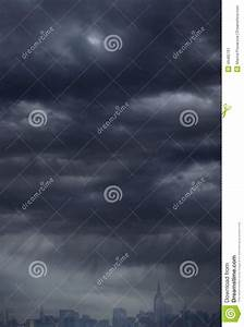 Overcast Sky And City Background Stock Photo - Image: 49485797