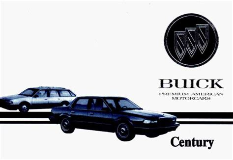 download car manuals pdf free 1987 buick century transmission control buick century 1993 owner s manual pdf online download