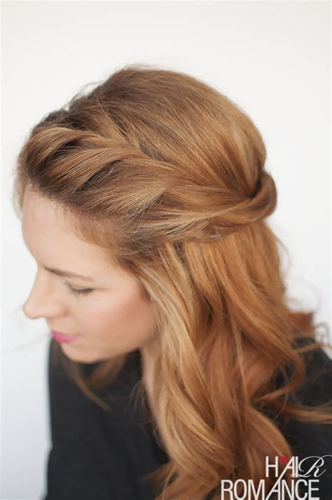 Twisting Hairstyles the twist back easy half up hairstyle tutorial hair