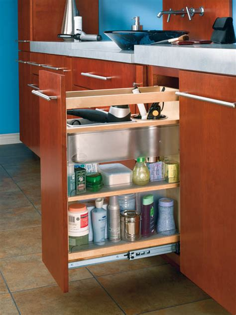 cabinet pullout grooming organizer bathroomvanity