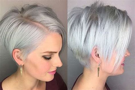 Short Hairstyle Grey 2017 Fashion And Women