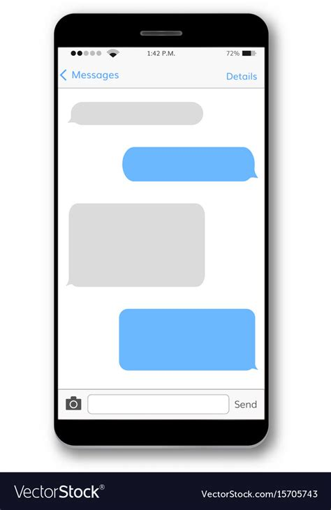 Free Mobile Text Message by Message Text Box Mobile Phone Screen Royalty Free Vector