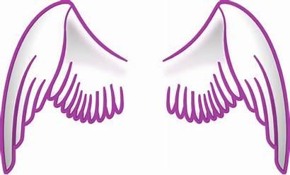 Wings Angel Purple Clip Clipart Stroked Sayap