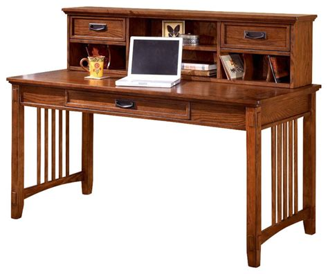 Ashley Furniture Table Lamps by Mission Style Writing Desk W Low Hutch Craftsman Desks