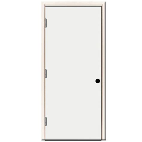 right outswing exterior door steves sons 30 in x 80 in premium flush primed white