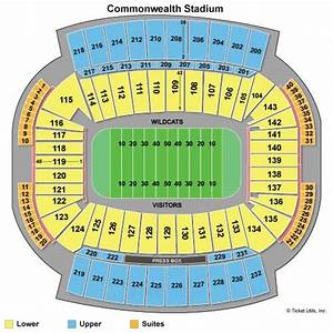 commonwealth stadium ky seating chart kentucky wildcats football tickets 2018 games ticketcity