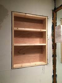built in wall shelves Built In Wood Shelf - Mixed Kreations