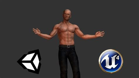 3d Model Rigged Character Gabriel Ue4 Unity Game Ready Vr
