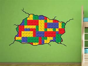lego style wall decal kids bedroom lego room decoration With lego wall decals