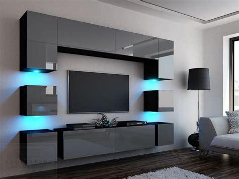 Zudem erhält ihr wohnraum durch das einheitliche design eine elegante und moderne note. Front in Grau Hochglanz. WOHNWAND quadro Grau/schwarz ...