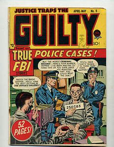 JUSTICE TRAPS THE GUILTY #9 [1949 GD+] SIMON & KIRBY ART ...