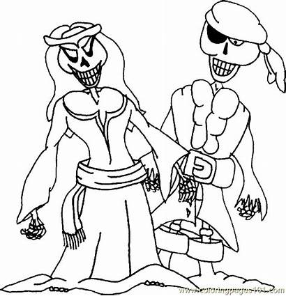 Pirate Coloring Pages Skeleton Printable Pirates Miscellaneous