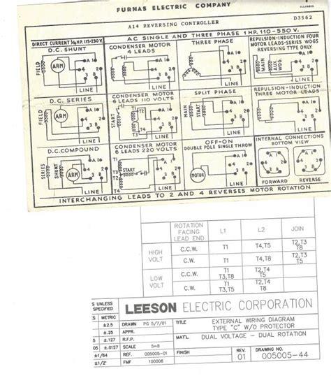Need Help Wiring Leeson Motor Furnas Switch