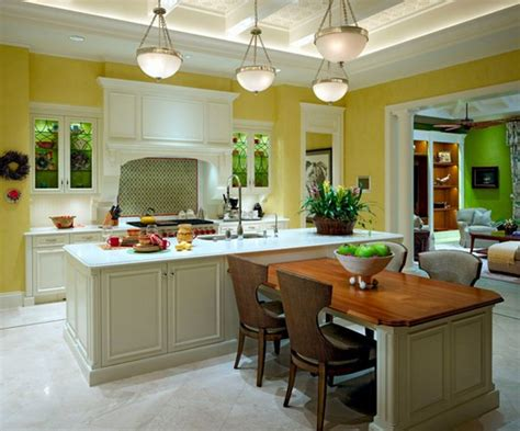 Beautiful Kitchen Island With Table Attached