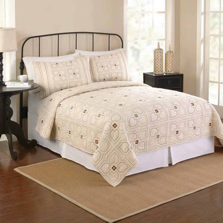 better homes and gardens quilts better homes and gardens bedding quilt ivory