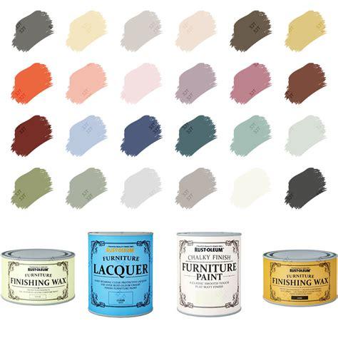 rust oleum chalky chalk furniture paint matt finishing wax lacquer 125ml 750ml ebay