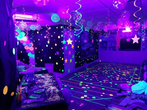 neonglow   dark party   neon party glow