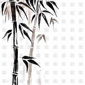 Bamboo Chinese painting Royalty Free Vector Clip Art Image ...
