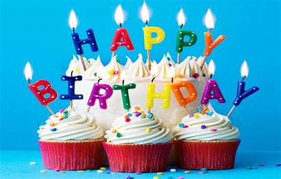 Birthday Happy Colorful Rainbow Cake Candles Celebration