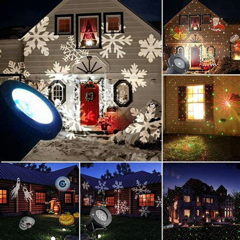 Outside Projector Lights by Outdoor Garden Light Snowflake Led Laser
