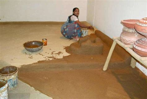 indian style floor ls why gobar cow dung is applied on walls and floors of