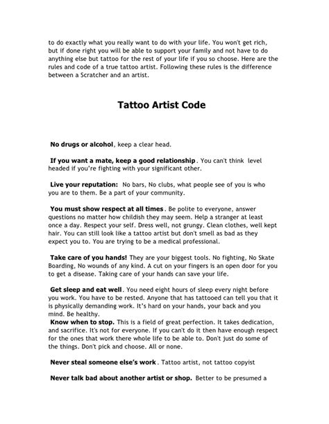 The Tattoo Artist S Black Book