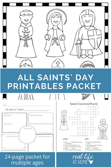 saints printables  worksheet packet  saints day