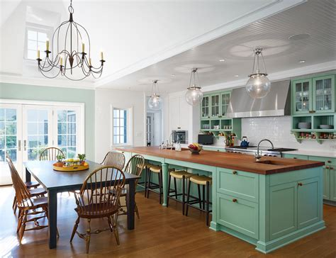 large country kitchen зеленый цвет в интерьере кухни 3649