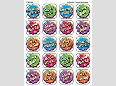 Good Work Stickers TCR5752 Teacher Created Resources