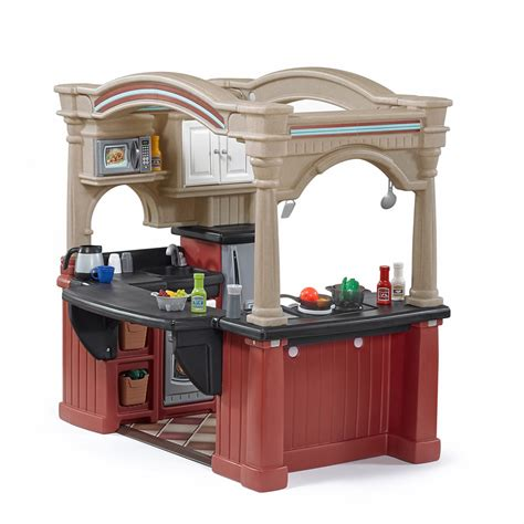 Grand Walk In Kitchen with Extra Play Food Set   Kids Toy Combo   Step2