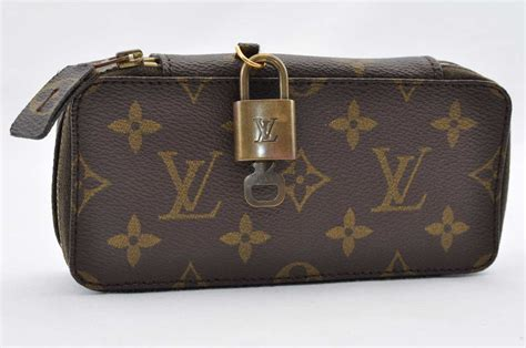 authentic louis vuitton monogram monte carlo jewelry case