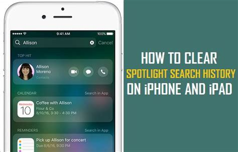 how to clear iphone search history how to clear spotlight search history on iphone and