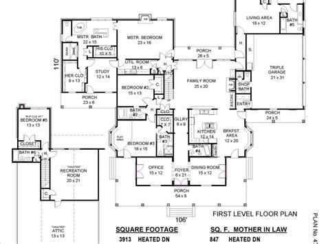floor plans with inlaw apartment house plans with in apartment 2017 house