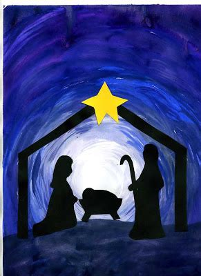 christian christmas art ideas that artist how to make a nativity silhouette project