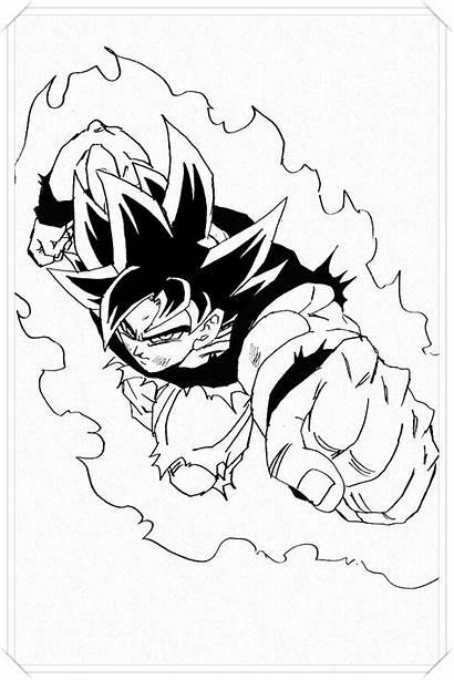 Goku Dragon Ball Drawing Ultra Instinct Coloriage