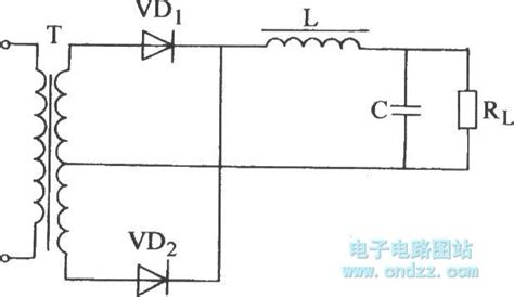 single phase full wave rectifier duplex filter circuit